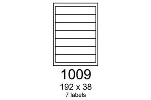 Etikety RAYFILM 192x38 zelené flourescentné laser R01301009A R0130.1009A