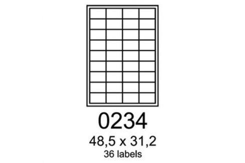 Etikety RAYFILM 48,5x31,2 žlté flourescentné laser R01310234A R0131.0234A