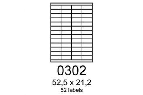 Etikety RAYFILM 52,5x21,2 žlté flourescentné laser R01310302A R0131.0302A