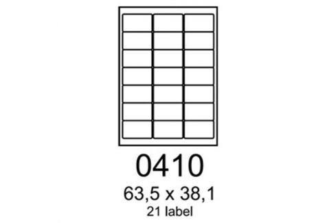 Etikety RAYFILM 63,5x38,1 žlté flourescentné laser R01310410A R0131.0410A