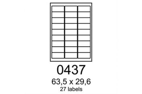 Etikety RAYFILM 63,5x29,6 žlté florescentné laser R01310437A R0131.0437A