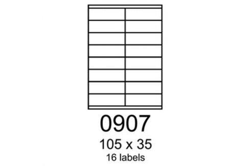 Etikety RAYFILM 105x35 žlté flourescentné laser R01310907A (100 list./A4) R0131.0907A