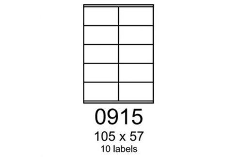 Etikety RAYFILM 105x57 žlté flourescentné laser R01310915A (100 list./A4) R0131.0915A