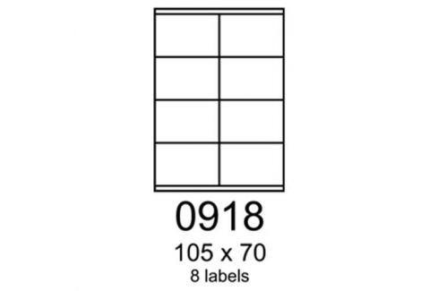 Etikety RAYFILM 105x70 žlté flourescentné laser R01310918A (100 list./A4) R0131.0918A