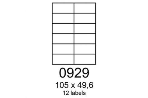 Etikety RAYFILM 105x49,6 žlté flourescentné laser R01310929A (100 list./A4) R0131.0929A