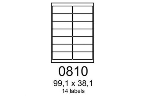 Etikety RAYFILM 99,1x38,1 červené flourescentné laser R01320810A R0132.0810A
