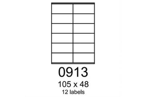 Etikety RAYFILM 105x48 červené flourescentné laser R01320913A (100 list./A4) R0132.0913A