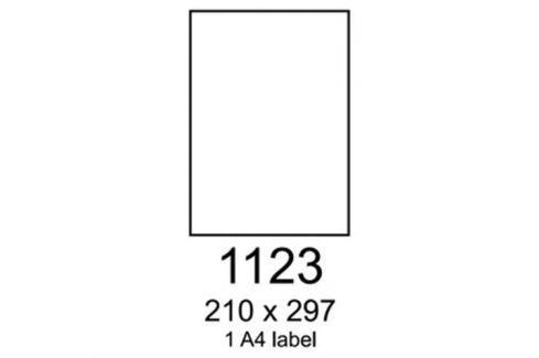 Etikety RAYFILM 210x297 červené flourescentné laser R01321123A R0132.1123A