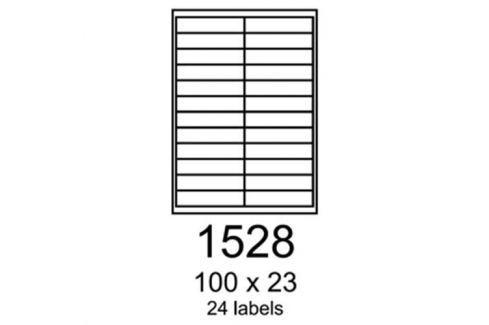 Etikety RAYFILM 100x23 červené flourescentné laser R01321528A (100 list./A4) R0132.1528A