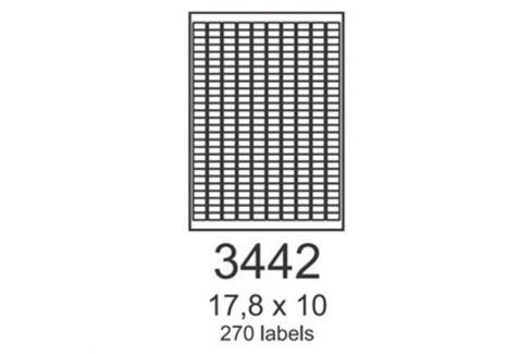 Etikety RAYFILM 17,8x10 červené flourescentné laser R01323442A R0132.3442A