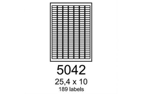 Etikety RAYFILM 25,4x10 červené flourescentné laser R01325042A R0132.5042A