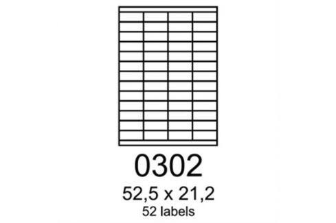 Etikety RAYFILM 52,5x21,2 oranžové flourescentné laser R01330302A (100 list./A4) R0133.0302A
