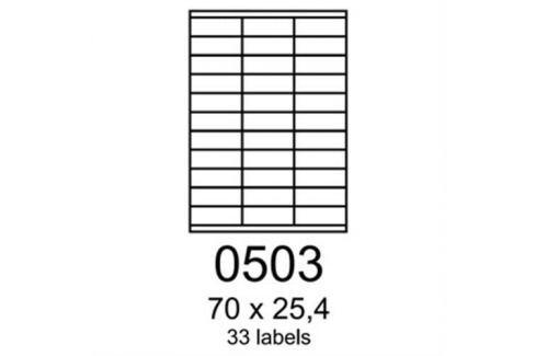 Etikety RAYFILM 70x25,4 oranžové flourescentné laser R01330503A R0133.0503A