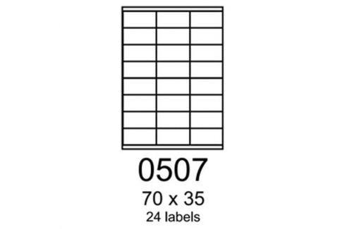 Etikety RAYFILM 70x35 oranžové flourescentné laser R01330507A R0133.0507A