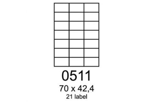 Etikety RAYFILM 70x42,4 oranžové flourescentné laser R01330511A R0133.0511A