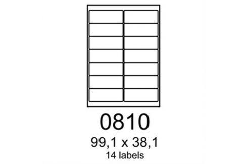 Etikety RAYFILM 99,1x38,1 oranžové flourescentné laser R01330810A R0133.0810A