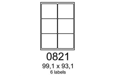 Etikety RAYFILM 99,1x93,1 oranžové flourescentné laser R01330821A R0133.0821A