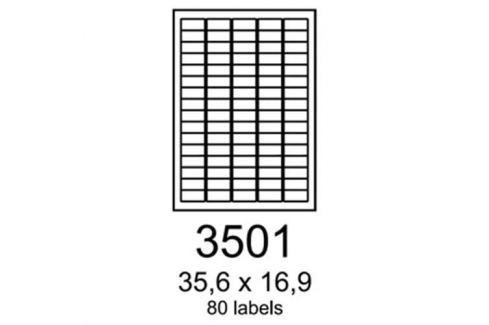 Etikety RAYFILM 35,6x16,9 oranžové flourescentné laser R01333501A R0133.3501A