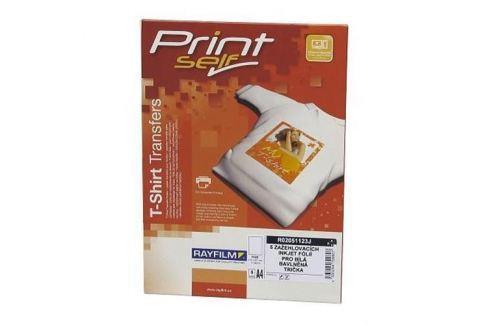 Papier RAYFILM nažehľovací inkjet (svetlý textil) 2ks/A4 + Tričko XL Biele R0205.WHITE