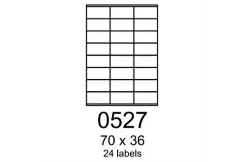 Etikety RAYFILM 70x36 lesklé transparentné samolepiace laser R04000527A (100 list./A4) R0400.0527A