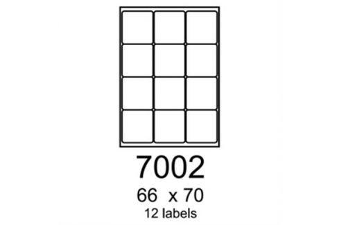 Etikety RAYFILM 66x70 lesklé transparentné samolepiace laser R04007002A (100 list./A4) R0400.7002A