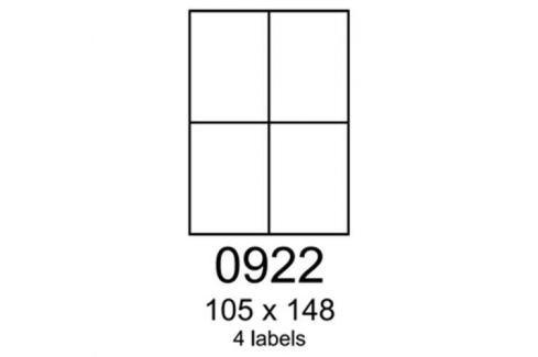 Etikety RAYFILM 105x148 matné biele polyesterové laser R05020922A (100 list./A4) R0502.0922A
