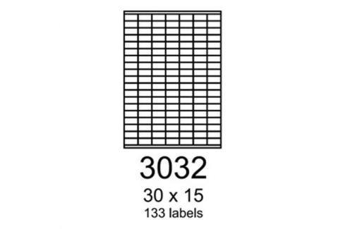 Etikety RAYFILM 30x15 matné biele polyesterové laser R0502.3032A