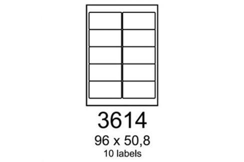 Etikety RAYFILM 96x50,8 matné biele polyesterové laser R05023614A R0502.3614A