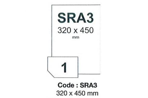 Fólia RAYFILM matná biela samolepiaca polyesterová laser 100ks/SRA3 R0502.SRA3A