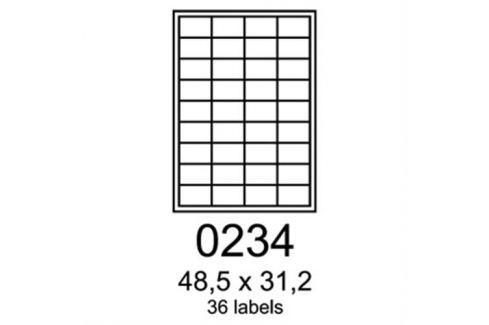 Etikety RAYFILM 48,5x31,2 matné biele polyetylenové laser/inkjet R05030234A (100 list./A4) R0503.0234A