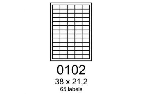 Etikety RAYFILM 38x21,2 polyesterové lesklé biele laser R05040102A R0504.0102A