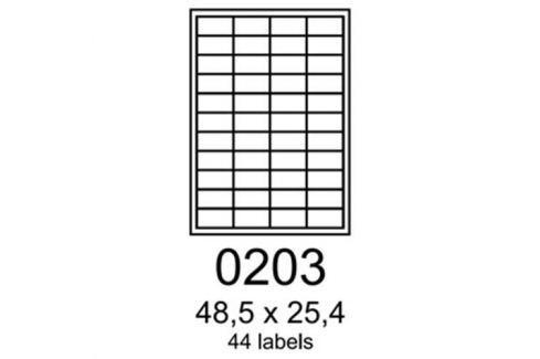 Etikety RAYFILM 48,5x25,4 polyesterové lesklé biele laser R05040203F R0504.0203F