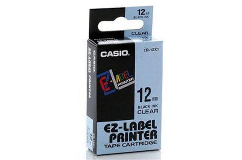 Páska CASIO XR-12X1 Black On Transparent Tape EZ Label Printer (12mm)