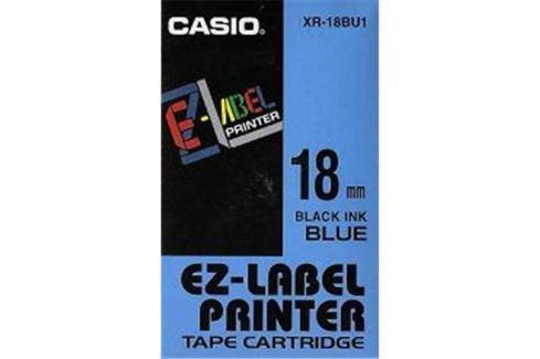 Páska CASIO XR-18BU1 Black On Blue Tape EZ Label Printer (18mm)