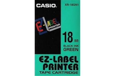 Páska CASIO XR-18GN1 Black On Green Tape EZ Label Printer (18mm)