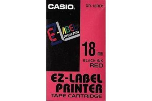 Páska CASIO XR-18RD1 Black On Red Tape EZ Label Printer (18mm)
