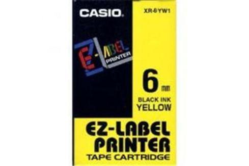 Páska CASIO XR-6YW1 Black On Yellow Tape EZ Label Printer (6mm)