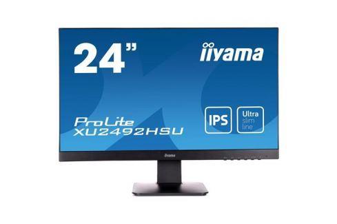Monitor iiyama XU2492HSU-B1, 24'', LCD, IPS, 5ms, 250cd/m2, 1000:1 (5M:1 ACR), DP, USB hub, HDMI, repro