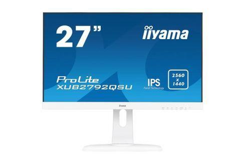Monitor iiyama XUB2792QSU-W1, 27'', IPS, WQHD,5ms,350cd/m2, 1000:1,16:9,DVI,HDMI,DP,USB,repro,výšk.nast.,pivot